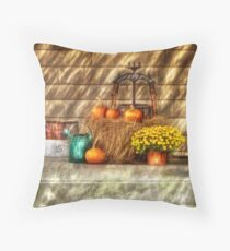 A still life with pumpkins Throw Pillow
