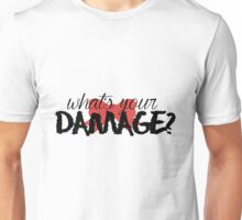 What's Your Damage? (Red Bow) Unisex T-Shirt