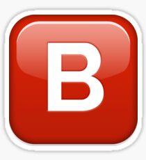 B button emoji Sticker