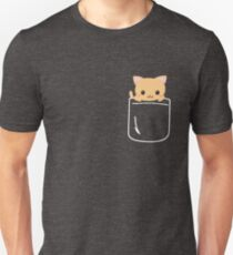 Kitty Cat In Your Pocket Funny Emoji Feline Lover Unisex T-Shirt