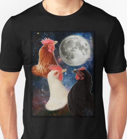 3 Chicken Moon T-Shirt