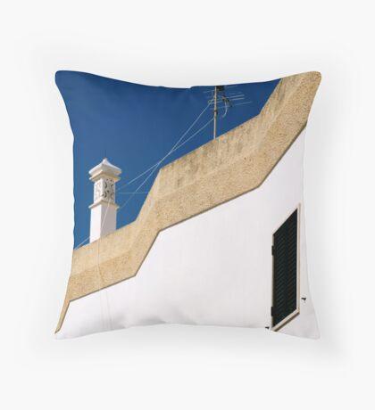 black window Throw Pillow