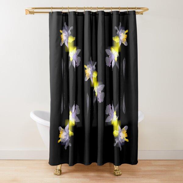 Cubist Daffodils Shower Curtain