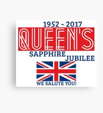 Queen's Sapphire Jubilee Canvas Print