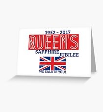Queen's Sapphire Jubilee Greeting Card