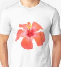 Red Hibiscus Vector Isolated Unisex T-Shirt