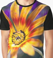 Carefree Summer Flower Close-up Graphic T-Shirt