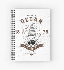 Atlantic Ocean Spiral Notebook