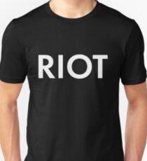 RIOT white Unisex T-Shirt