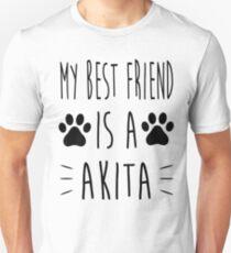 My best friend is an 'Akita' Unisex T-Shirt