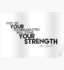 VULNERABILITIES your STRENGTH - Sigmund Freud Poster