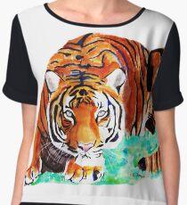 Tiger Women's Chiffon Top