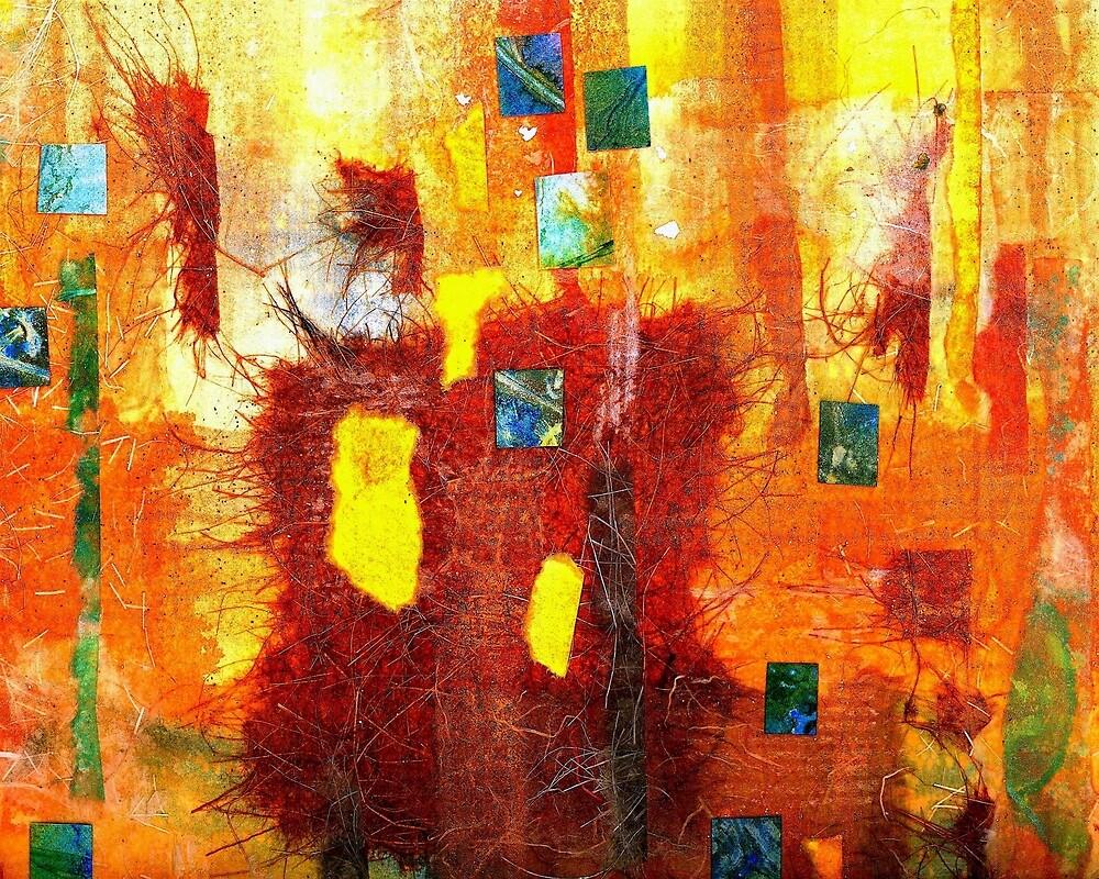 Yellow Mosaic Collage by Dana Roper