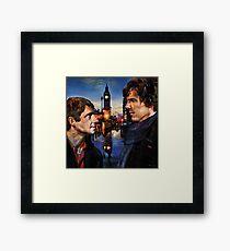 John and Sherlock in London Framed Print