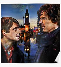 John and Sherlock in London Poster