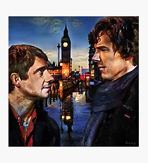 John and Sherlock in London Photographic Print