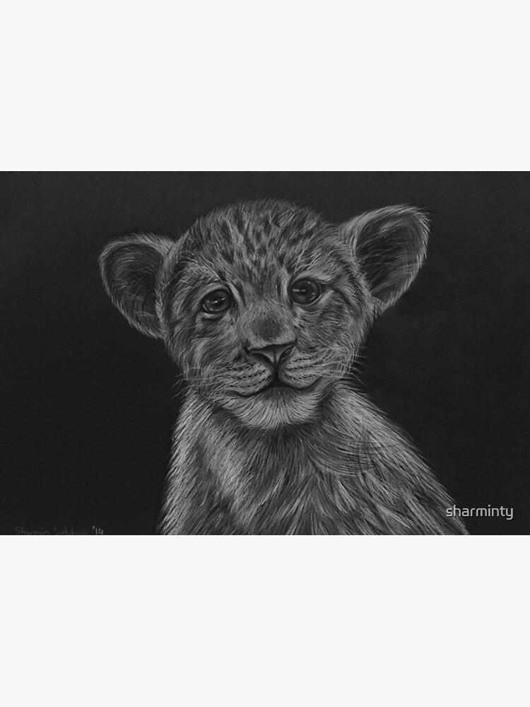 Lion cub sketch by sharminty