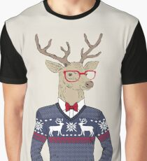 Merry Christmas Reindeer Graphic T-Shirt