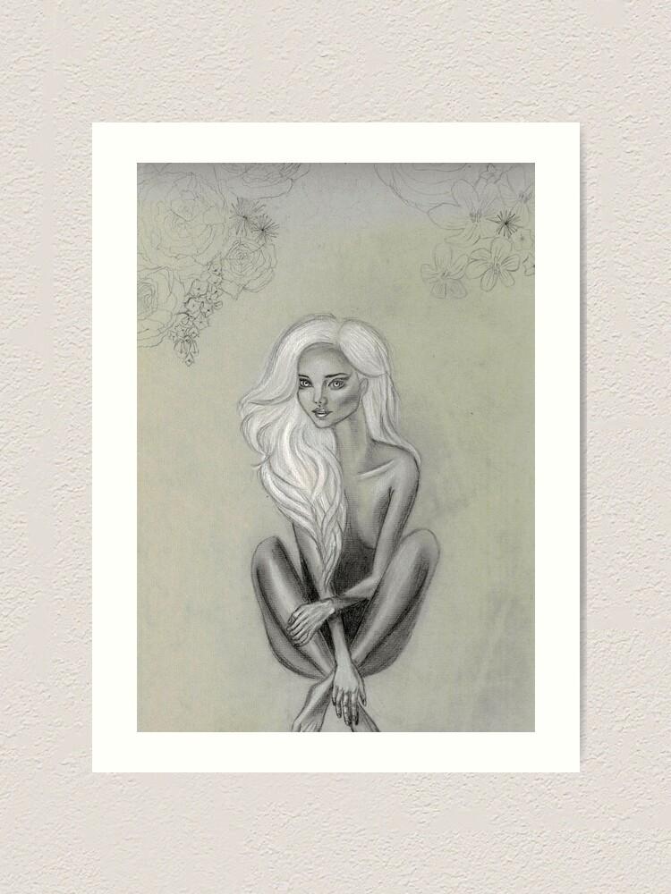 Alternate view of Forest nymphette Art Print