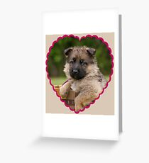 Sable Puppy in Heart Greeting Card