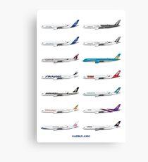 Airbus A350 Operators Illustration Canvas Print