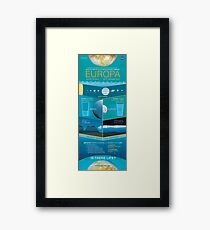 Space Infographic - Europa Framed Print