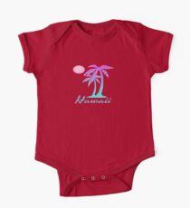Hawaii Tropical Palm Tree Hawaiian Souvenir TShirt One Piece - Short Sleeve