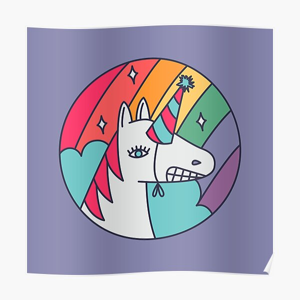 I Wish I Were a Unicorn Poster