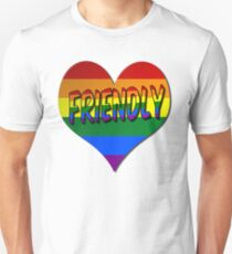Gay Friendly Love Heart Symbol Unisex T-Shirt