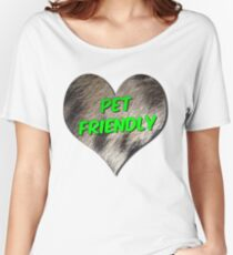 Pet Friendly Love Heart Symbol Women's Relaxed Fit T-Shirt