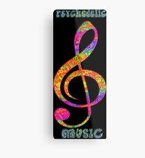 Psychedelic Music Note! Metal Print