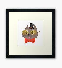 smart cat Framed Print