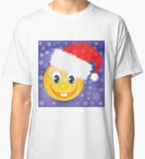 smile in a Christmas hat Classic T-Shirt