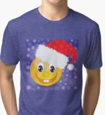 smile in a Christmas hat Tri-blend T-Shirt