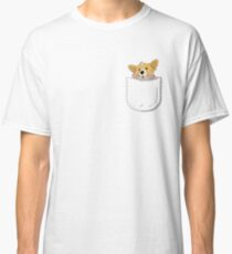 Pocket Corgi Pup Classic T-Shirt