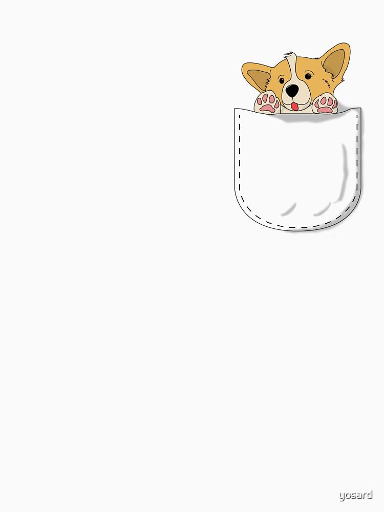 Pocket Corgi Pup   Unisex T-Shirt