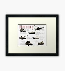 Military Infographic - The Soviet Big 7 (1981) Framed Print