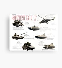Military Infographic - The Soviet Big 7 (1981) Metal Print