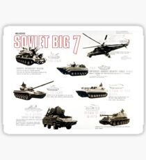 Military Infographic - The Soviet Big 7 (1981) Sticker