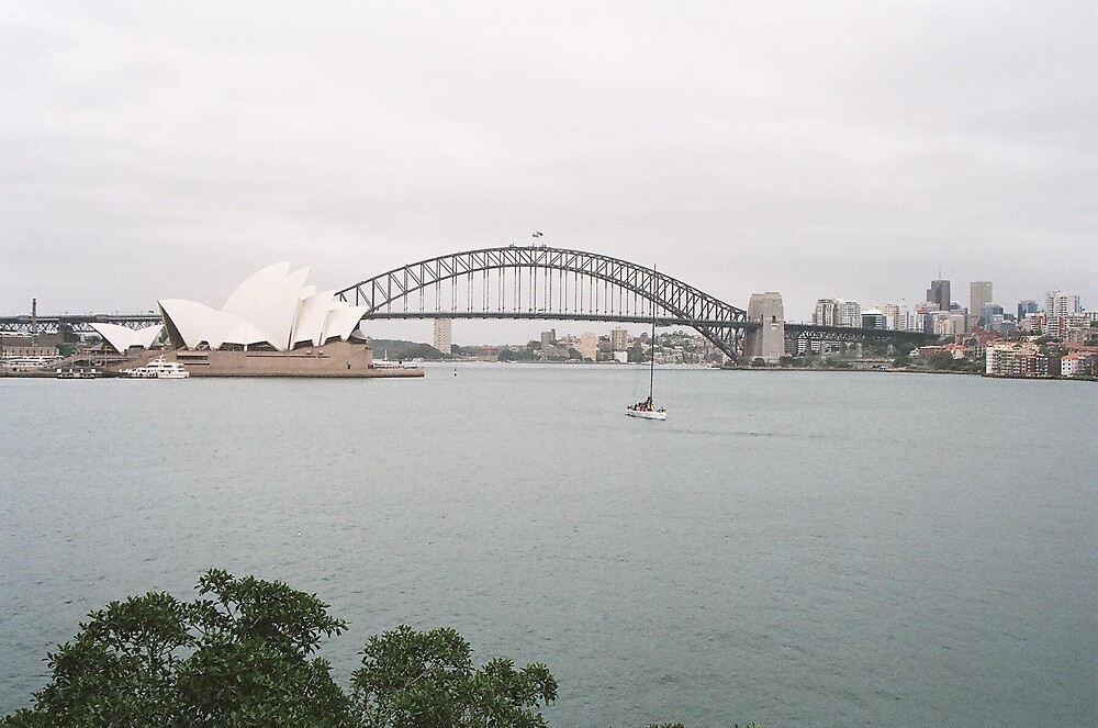 Opera House and Sydney Harbour Bridge by Cecilmax