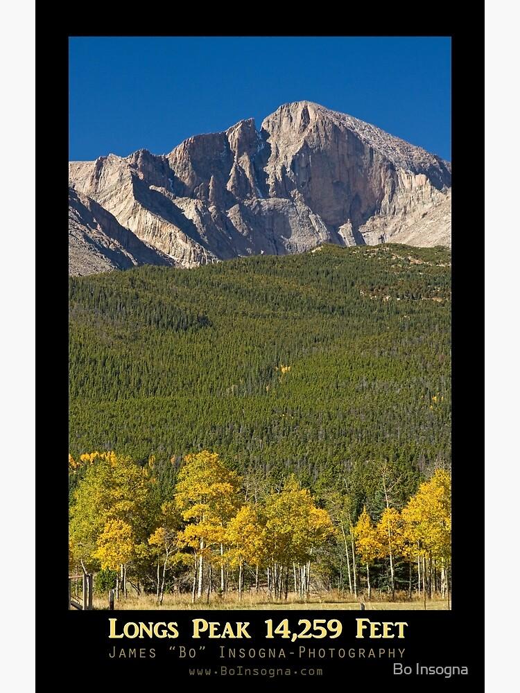 Golden Longs Peak 14259 Poster by mrbo