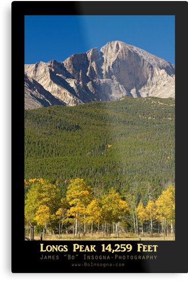 Golden Longs Peak 14259 Poster by Bo Insogna