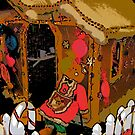 Comic Abstract Gingerbread House by steelwidow