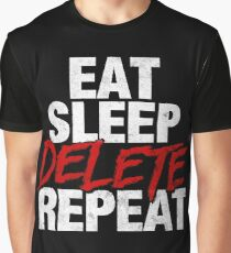 Eat Sleep DELETE Repeat Graphic T-Shirt