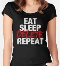Eat Sleep DELETE Repeat Women's Fitted Scoop T-Shirt
