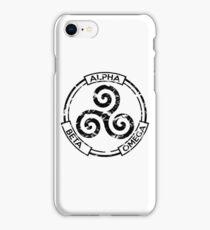 Alpha Beta Omega (Black) - Teen Wolf iPhone Case/Skin