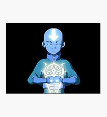 Aang's Avatar State with Raava Photographic Print