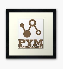 Pym Technologies - Gold Framed Print