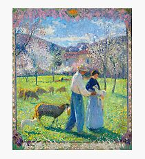 Henri Martin - Lovers At Spring (Version In Flovering Frame), 1902 Photographic Print