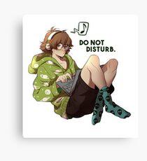 Do not disturb. Canvas Print